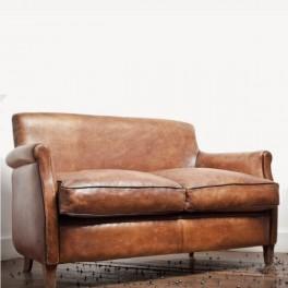 Canapé en cuir, Franck vieilli,