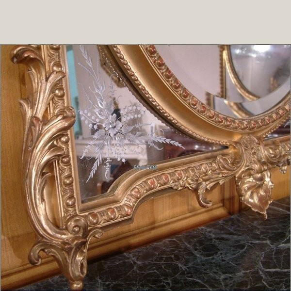 Miroir style louis xv for Miroir louis xv