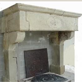 Cheminée ancienne, Louis XIII,
