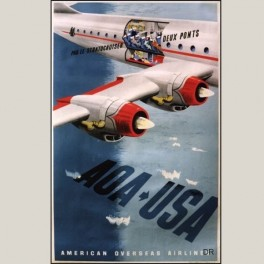 Affiche ancienne Air France