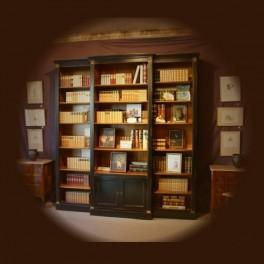 """decoration ameublement, bibliothèque sur socle """"tallien"""""""