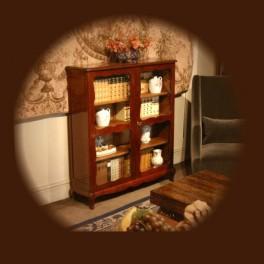 decoration ameublement, bibliothèque vitrine,